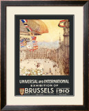 Universal and International Exhibition of Brussels Framed Giclee Print