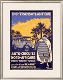 North African Michelin Tire Tour Framed Giclee Print by Bernard Villemot
