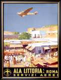 Ala Littoria Framed Giclee Print by Mariano Bertuchi