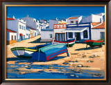 Barque Bleue a Alvor Posters by Jean-Claude Quilici