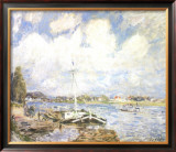 Boats of the Seine Posters by Alfred Sisley