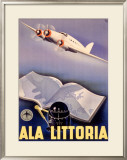 Ala Littoria Airline Aviation Framed Giclee Print