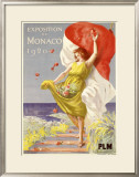 Exposition de Monaco, 1920 Framed Giclee Print by Leonetto Cappiello
