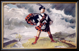 LNER, Western Highlands Framed Giclee Print