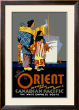 Canadian Pacific Empress Route Framed Giclee Print