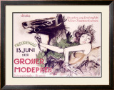 Grosser Mode Preis Framed Giclee Print by Ernst Deutsch