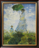 Lady with Parasol Print by Claude Monet