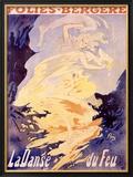 Folies-Bergere, La Danse du Feu Framed Giclee Print by Jules Chéret