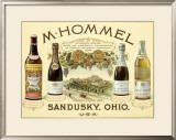 Hommel Champagne Vineyard Framed Giclee Print by Jules Chéret