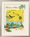 Fly Hawaiian Airlines Framed Giclee Print
