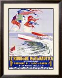 Riunione Montonautica Boat Race Framed Giclee Print