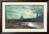 Blick Auf Dresden Art by Johan Christian Clausen Dahl