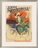 Acatene Metropole Framed Giclee Print by Lucien Baylac