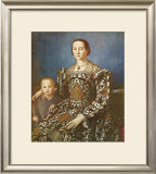 Eleanore and Son Print by Agnolo Bronzino