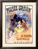 Musee Grevin, Le Journal Lumineux Framed Giclee Print by Jules Chéret