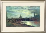 Blick Auf Dresden Poster by Johan Christian Clausen Dahl