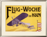 Flug Woche Monoplane Aviation Framed Giclee Print by Max Ponty
