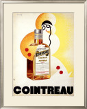 Cointreau Framed Giclee Print by Charles Loupot