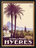 Travel to Hyeres France Framed Giclee Print