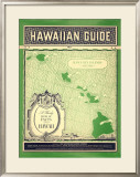 Matson Hawaiian Guide Map Framed Giclee Print