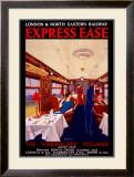 Express Ease, LNER Poster, 1923-1930 Framed Giclee Print by George Harrison