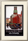 LNER, Hamburg via Grimsby, c.1927 Framed Giclee Print by Frank Newbould