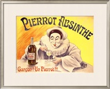 Pierrot Absinthe Framed Giclee Print by LEM 