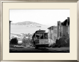 San Francisco, Cable Car, Alcatraz Framed Giclee Print