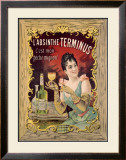 Absinthe Aperitif Liqueur Framed Giclee Print