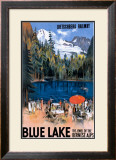 Blue Lake Framed Giclee Print