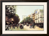 Le Boulevard des Italiens Posters by Edmond Georges Grandjean