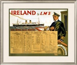 Ireland by LMS, the Royal Mail Framed Giclee Print