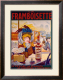 La Framboisette Framed Giclee Print by Francisco Tamagno