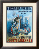 Maison Universelle Framed Giclee Print by B. Kaufmann