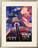 Chicago World's Fair, 1934 Framed Giclee Print by Sandor
