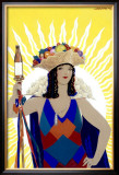 Spanish Senorita Beer Framed Giclee Print by Achille Luciano Mauzan