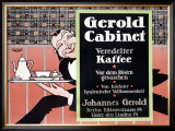 Gerold Cabinet Kaffee Framed Giclee Print by J. Loe