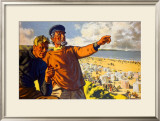 Whitley Bay Framed Giclee Print by Arthur C Michael