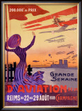 Grande Semaine d'Aviation Framed Giclee Print by Ernest Montaut