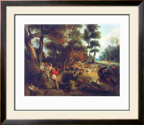 Hunting a Sow Prints by Eugene Delacroix
