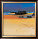 Footsteps and Orange Sands Limited Edition Framed Print by Pam Carter