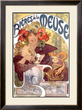 Bieres de la Meuse Framed Giclee Print by Alphonse Mucha