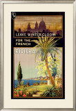 Winter Escape, French Riviera Framed Giclee Print