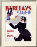 Barclay's Lager Framed Giclee Print by Tom Purvis