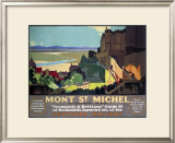 Mont St. Michel, SR Poster, 1932 Framed Giclee Print by Leonard Richmond