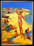Mablethorpe and Sutton-on-sea, BR poster, circa 1950s Framed Giclee Print by Jack Merriott
