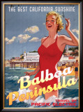 Balboa Peninsula, The Best California Sunshine Framed Giclee Print