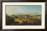 The Castle Schoenbrunn Courtyard Prints by  Canaletto