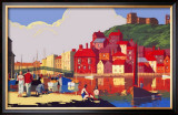 Whitby: Its Quicker by Rail Framed Giclee Print by  Alo (Charles-Jean Hallo)
