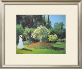 Jeanne Marguerite Lecadre in Her Garden, 1866 Prints by Claude Monet